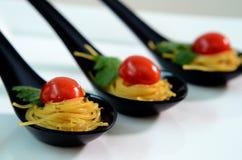 Fin äta middag spagetti Royaltyfri Bild