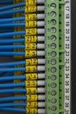 Fin électrique de câblage vers le haut Photo libre de droits