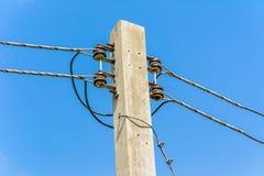 Fin électrique de poteau  Images stock