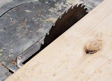 Fin électrique de scie de circulaire pour la coupe en bois Photographie stock libre de droits
