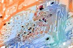 Fin électronique de carte vers le haut Photo libre de droits