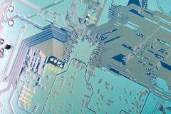 Fin électronique de carte vers le haut Photographie stock libre de droits