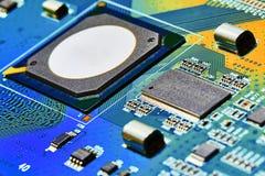 Fin électronique de carte vers le haut Photo stock