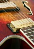 Fin abstraite de guitare vers le haut Images stock