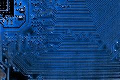 Fin abstraite des circuits électroniques en technologie sur le fond d'ordinateur de Mainboard photo libre de droits