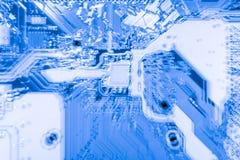 Fin abstraite des circuits électroniques en technologie sur le fond d'ordinateur de Mainboard images stock