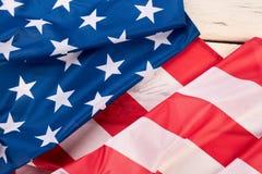 Fin américaine de drapeau de satin  image libre de droits