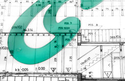 Fin architecturale de projet  Image stock