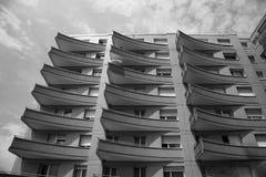 Fin balconies Stock Photo