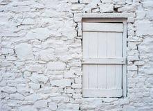 Fin blanche de cottage de brique  Photos stock