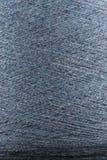 Fin bleue de macro de bobine de fil de laine  Image stock