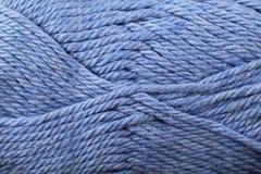 Fin bleue de texture de fil  Photo stock