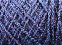 Fin bleue de texture de fil de bleuet  Photo libre de droits