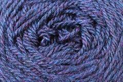 Fin bleue de texture de fil de bleuet  Photographie stock
