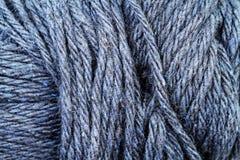 Fin bleue de texture de fil de bleuet  Photo stock