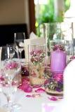 fin blom- tabell för bordsuppsats Arkivbild