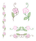 Fin blommaprydnad Royaltyfri Foto