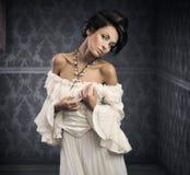 fin brunett royaltyfri foto