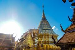 Fin buddistisk arkitektur på Wat Doi Suthep Chiang Mai Thailand Arkivbilder
