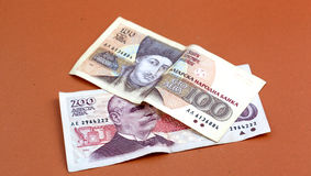 Fin bulgare d'argent vers le haut DOF peu profond Photo libre de droits