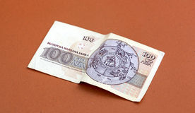 Fin bulgare d'argent vers le haut DOF peu profond Image stock