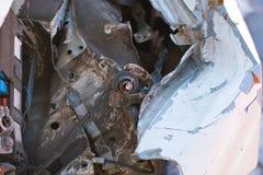 Fin cassée de capot de voiture photos libres de droits