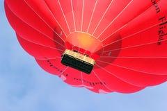 Fin chaude de ballon à air de Vierge vers le haut. Photographie stock libre de droits