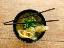 Fin chinoise de soupe à wonton  photos stock