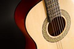 Fin classique de guitare vers le haut Image stock