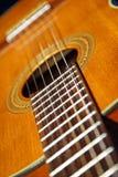 Fin classique de guitare vers le haut Images libres de droits