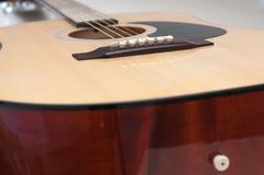 Fin classique de guitare vers le haut de tir Images stock
