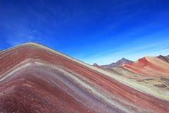 Fin colorée de montagne d'arc-en-ciel Image stock
