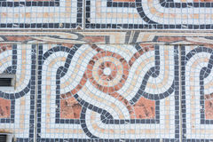 Fin colorée de plancher de mosaïque  image stock