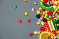 Fin colorée mélangée de bonbon de fruit  photo stock