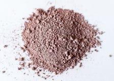 Fin colorée naturelle de poudre de colorant, fard à paupières brun mat pi photographie stock libre de droits