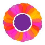 Fin colorée de tête de fleur vers le haut d'illustration Images libres de droits