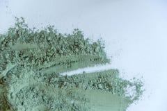 Fin cosmétique verte de texture d'argile  solution de fond cosmétique d'abrégé sur argile Image stock