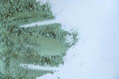 Fin cosmétique verte de texture d'argile  solution de fond cosmétique d'abrégé sur argile Photos libres de droits