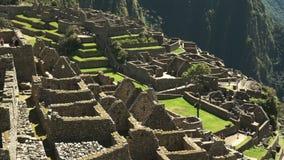 Fin courbe des ruines célèbres de Machu Picchu banque de vidéos
