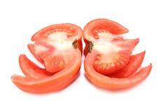 Fin découpée en tranches de tomate Image libre de droits