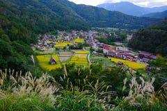 Fin d'été de village de Shirakawa Photo stock