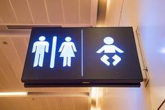 Fin d'aéroport de connexion de toilette Photos libres de droits