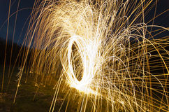 Fin d'abrégé sur pyrotechnie  Photographie stock libre de droits