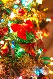 Fin d'arbre de Noël vers le haut Photos libres de droits