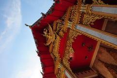 Fin d'avance d'église de Bouddha en Thaïlande Photo libre de droits