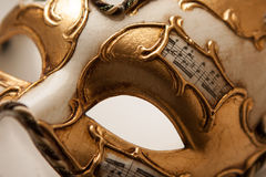 Fin d'or de masque de carnaval  Photos stock