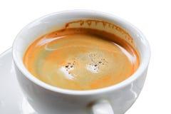 Fin d'expresso de café sur le fond blanc Image libre de droits