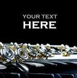 Fin d'instrument de clavier et de cannelure de piano avec l'endroit pour votre texte photographie stock libre de droits