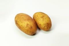 Fin d'isolement par pomme de terre fraîche  Images stock