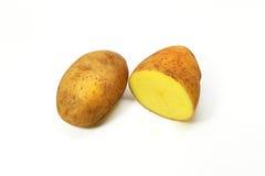 Fin d'isolement par pomme de terre fraîche  Image stock